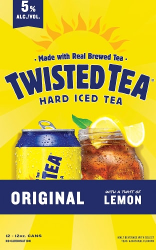 Twisted Tea Original Hard Iced Tea (12 Pack) Perspective: left