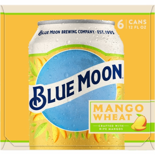 Blue Moon Mango Wheat Beer Perspective: left