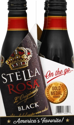 Stella Rosa Black Aluminum Singles Wine Perspective: left
