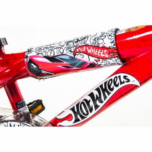 Dynacraft Hot Wheels® Beginner BMX Bike - Red/Black Perspective: left