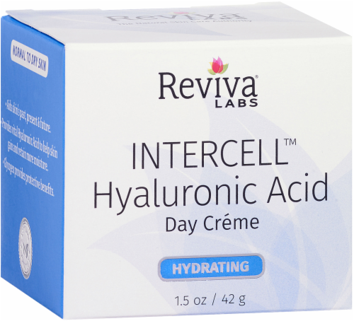 Reviva Labs Hydrating Intercell Hyaluronic Acid Day Creme Perspective: left