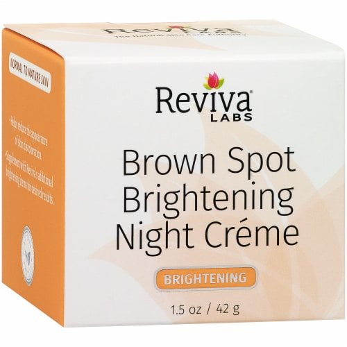 Reviva Labs Brown Spot Brightening Night Crème Perspective: left