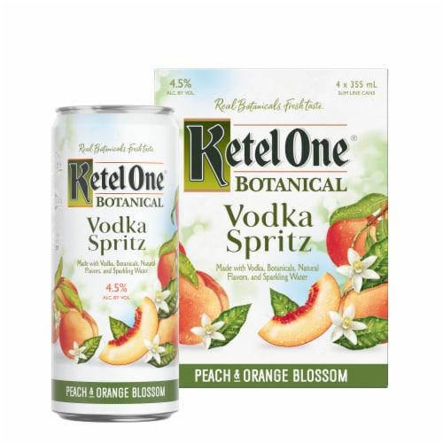 Ketel One Botanical Peach & Orange Blossom Vodka Spritz Perspective: left