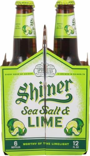 Shiner® Sea Salt & Lime Beer Perspective: left
