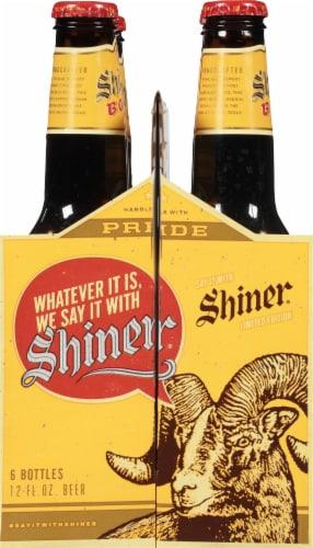 Shiner Bock Amber Lager 6 Bottles Perspective: left
