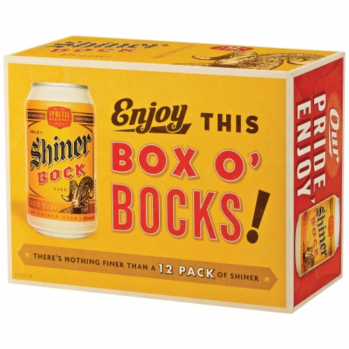 Shiner Bock Box O' Bocks! Beer Perspective: left