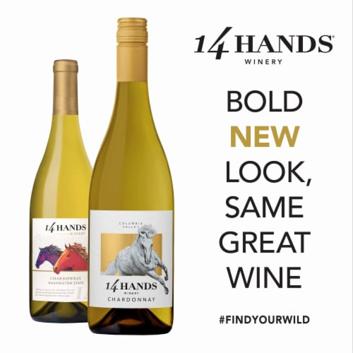 14 Hands Chardonnay White Wine Perspective: left