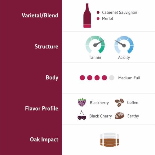 H3 Merlot Red Wine Perspective: left
