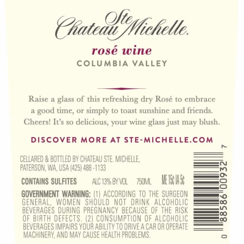 Chateau Ste Michelle Rose Wine Perspective: left