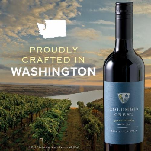 Columbia Crest Grand Estates Merlot Red Wine Perspective: left