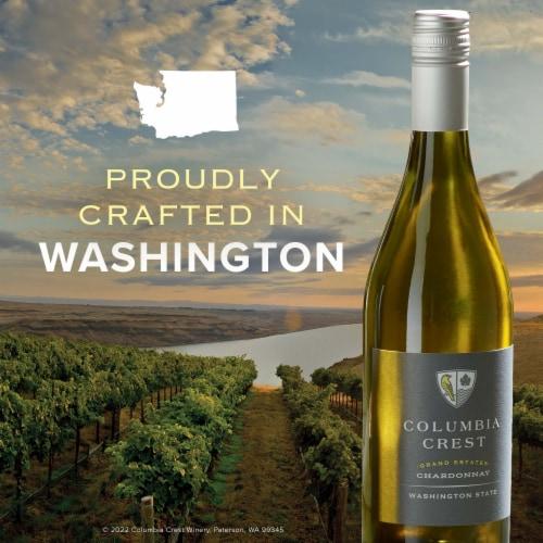 Columbia Crest Grand Estates Chardonnay White Wine Perspective: left