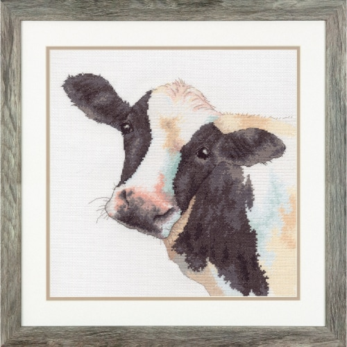 Dimensions® Sweet Cow Counted Cross Stitch Kit Perspective: left