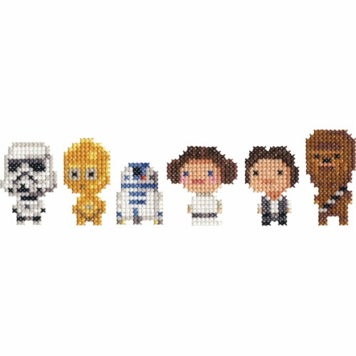 Dimensions® Star Wars™ Family Counted Cross Stitch Kit Perspective: left