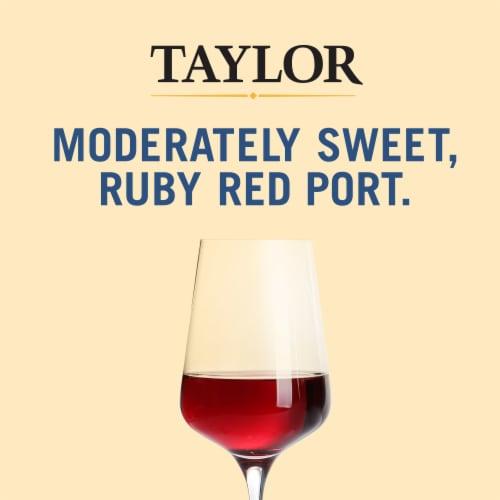 Taylor Desserts Port Red Wine Perspective: left