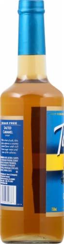 Torani Sugar Free Salted Caramel Syrup Perspective: left