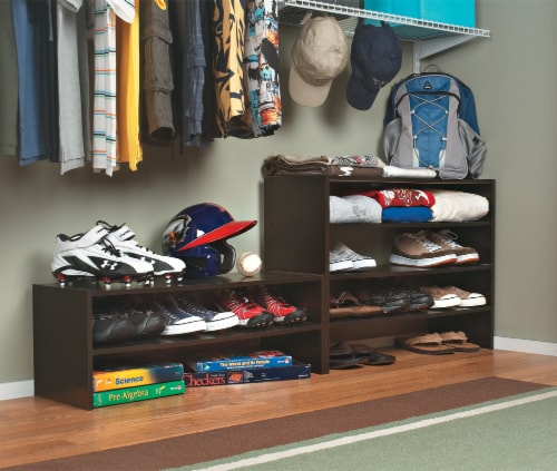 ClosetMaid Horizontal Organizer - Espresso Perspective: left