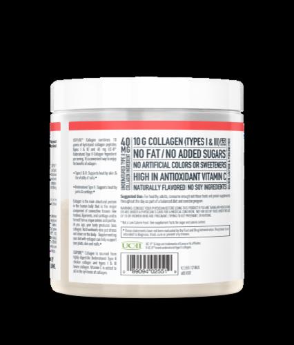ISOPURE Raspberry Lemonade Collagen Perspective: left