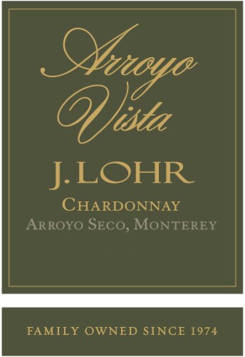 J. Lohr Arroyo Vista Chardonnay White Wine Perspective: left