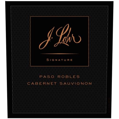 J. Lohr Signature Cabernet Sauvignon Red Wine Perspective: left