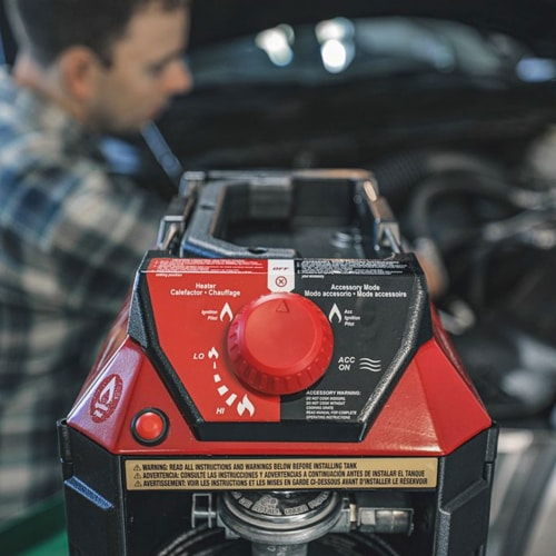 Mr. Heater 11,000 BTU Buddy FLEX Liquid Propane Portable Radiant Space Heater Perspective: left