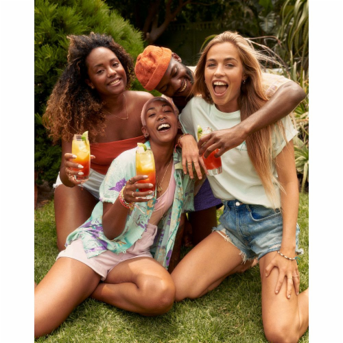 Malibu Caribbean Rum with Strawberry Liqueur Perspective: left
