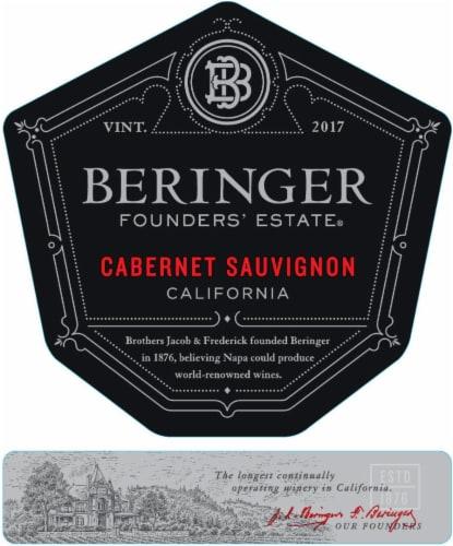 Beringer Founders' Estate Cabernet Sauvignon Red Wine Perspective: left