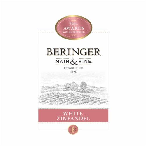 Beringer Main & Vine White Zinfandel Pink Wine Perspective: left