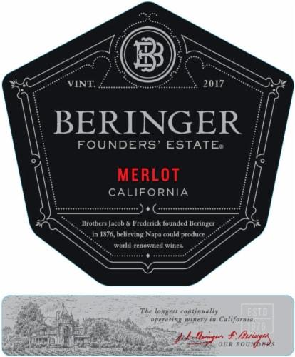 Beringer Founders' Estate Merlot Red Wine Perspective: left