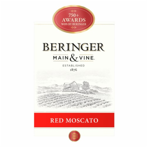 Beringer Red Moscato Perspective: left