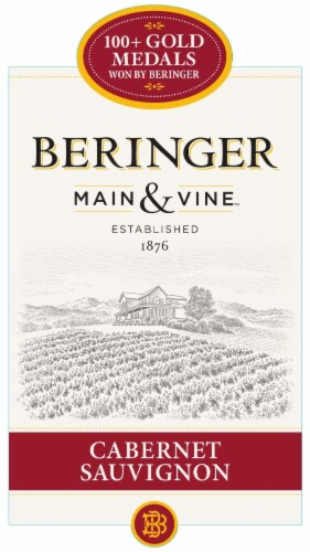 Beringer Main & Vine Cabernet Sauvignon Red Wine Perspective: left