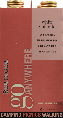 Beringer White Zinfandel Perspective: left