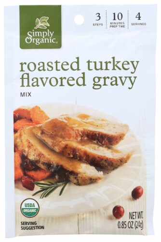 Simply Organic® Roasted Turkey & Brown Gravy Packets Perspective: left