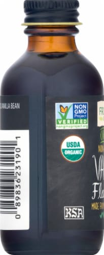 Frontier Organic Non-Alcoholic Vanilla Flavoring Perspective: left