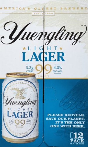 Yuengling Light Lager Perspective: left