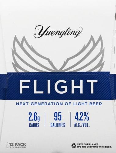Yuengling® Flight Light Beer Perspective: left