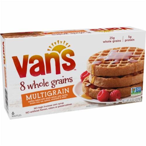 Van's 8 Whole Grains Multigrain Waffles 6 Count Perspective: left
