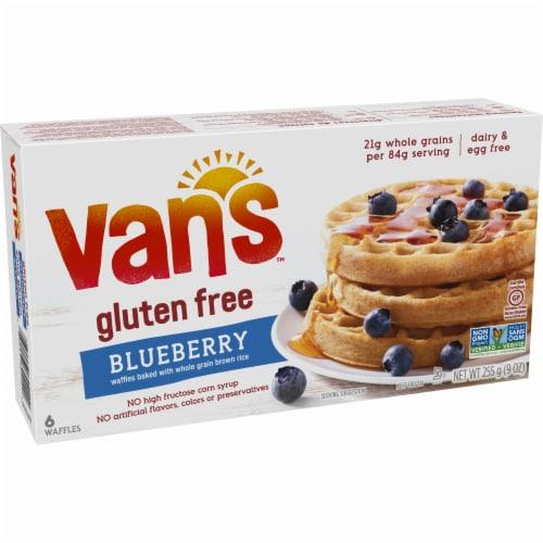 Van's Gluten Free Blueberry Waffles - 6 ct Perspective: left