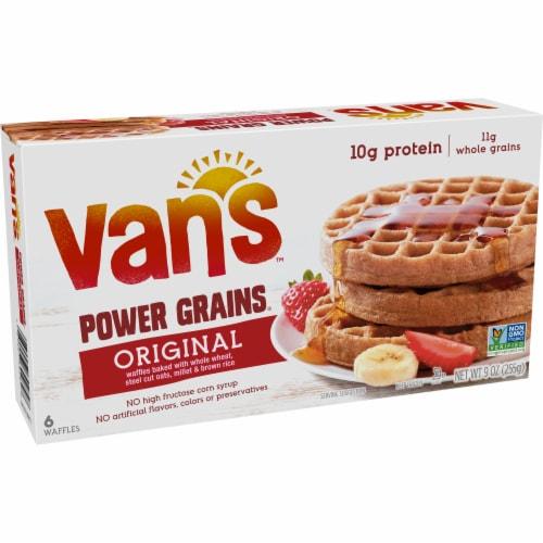 Van's Power Grains Original Waffles 6 Count Perspective: left