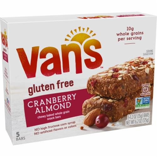 Van's Gluten Free Cranberry Almond Chewy Snack Bars Perspective: left