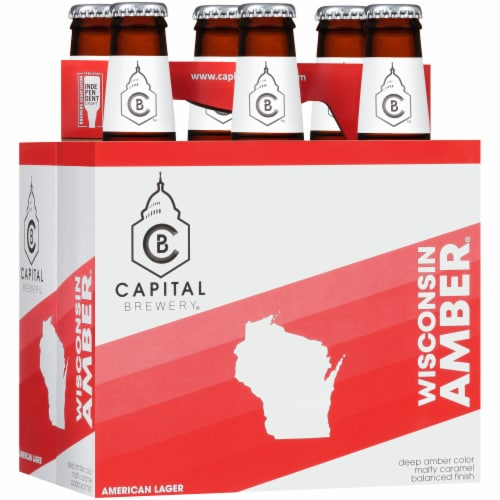 Capital Brewery Wisconsin Amber American Lager Perspective: left