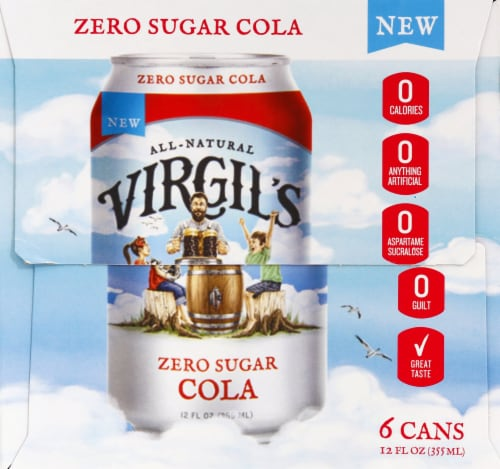 Virgil's Zero Sugar Cola Perspective: left