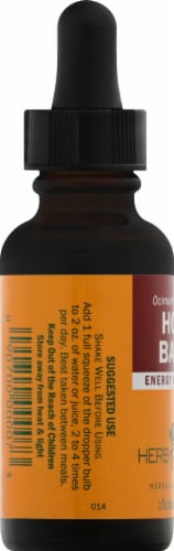 Herb Pharm Holy Basil Herbal Supplement Perspective: left