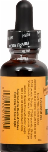 Herb Pharm Kids Tummy TLC Organic Herbal Supplement Perspective: left