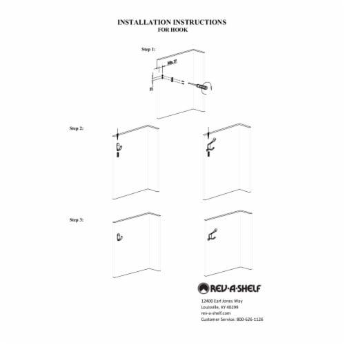 Rev-A-Shelf Sidelines CTWSL-HK-BZ-5 3 Way Decorative Wall Hook, Bronze (5 Pack) Perspective: left
