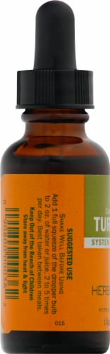 Herb Pharm Turmeric Herbal Supplement Perspective: left