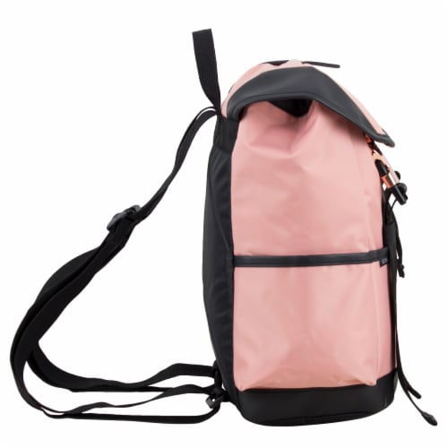 Bodhi Stella Fashion Drawstring Flap Backpack - Blush Perspective: left
