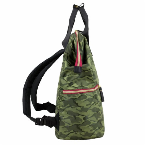 Bodhi Double Handle Tote Backpack - Green Camo Perspective: left