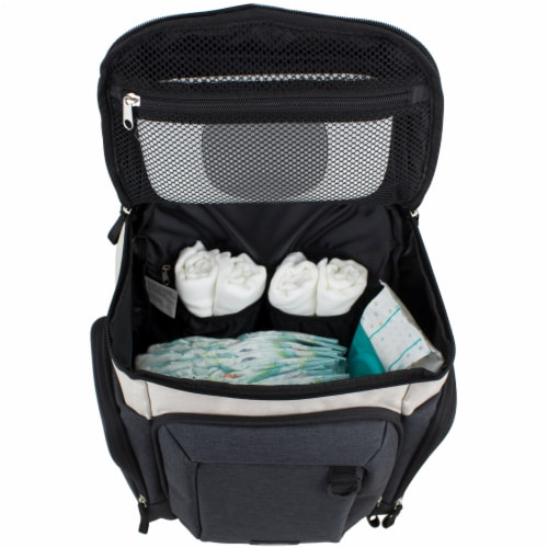 Bodhi Baby Wooster Street Diaper Backpack - Oatmeal Chambray Perspective: left