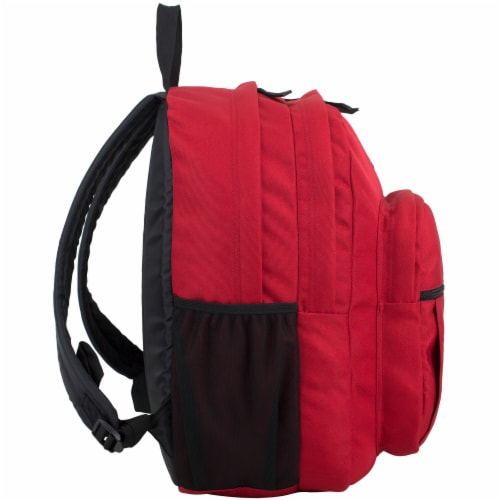 Fuel Deluxe Classic Large Backpack - Red Perspective: left