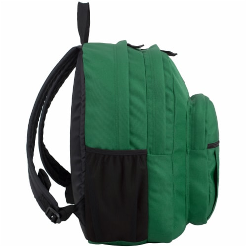 Fuel Deluxe Classic Large Backpack - Forest Green Perspective: left